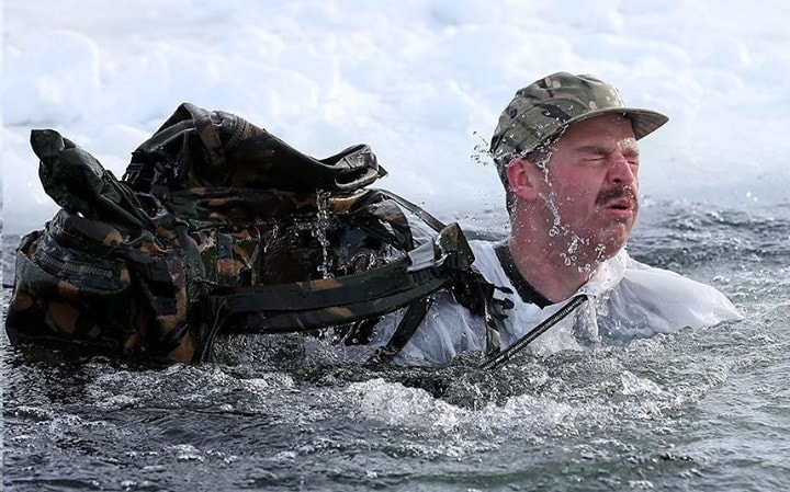Royal marines ice breaking