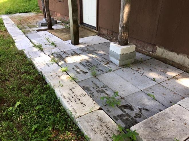 military headstone patio