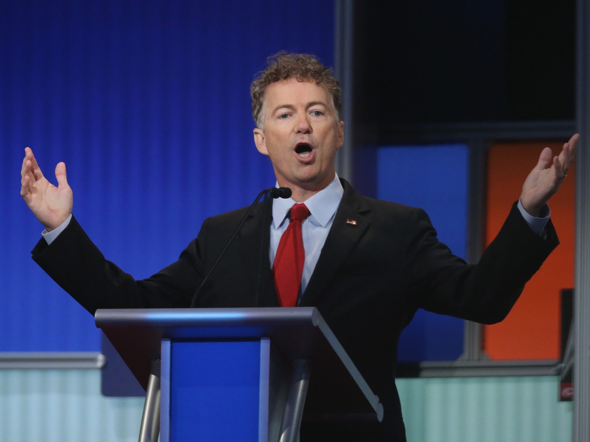 Kentucky Sen. Rand Paul speaks at the first Fox News Republican Party prime-time debate Thursday night. (Photo: Getty)