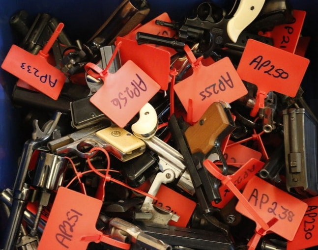 NJ county gun buyback nets nearly 400 firearms, including Uzi