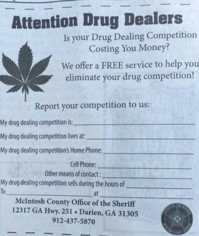 drug dealing competition