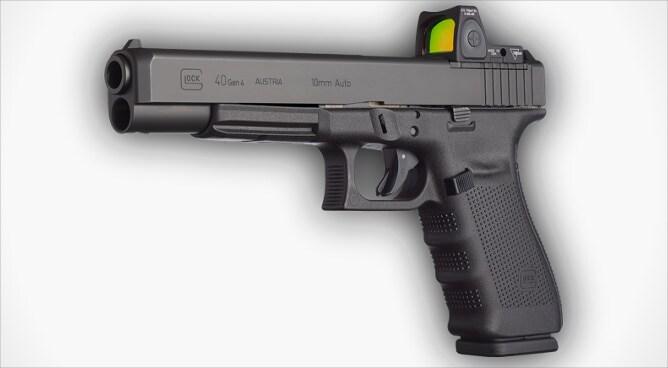 glock 40 mos with optic