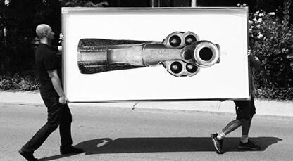 Super high resolution photographs of handguns...
