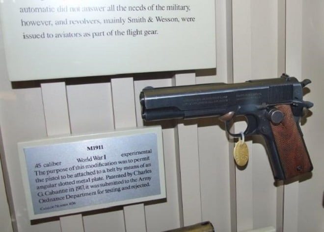 m1911 on display
