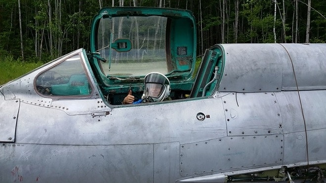 Man saves MiG-21 from the scrapyard, brings it home to rebuild