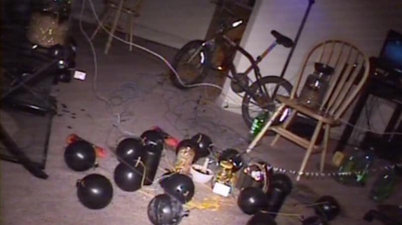 Screen shot of video taken by ATF bomb squad robot in Aurora theater shooter James Holmes' apartment, which was rigged with more than 20 homemade bombs.