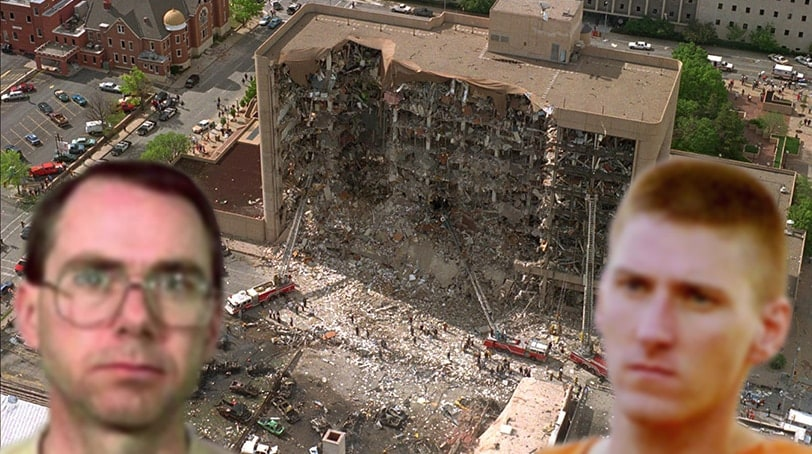 Terry Nichols (left) and Timothy McVeigh were convicted for their part in the 1995 Oklahoma City bombing. (Photo compilation)