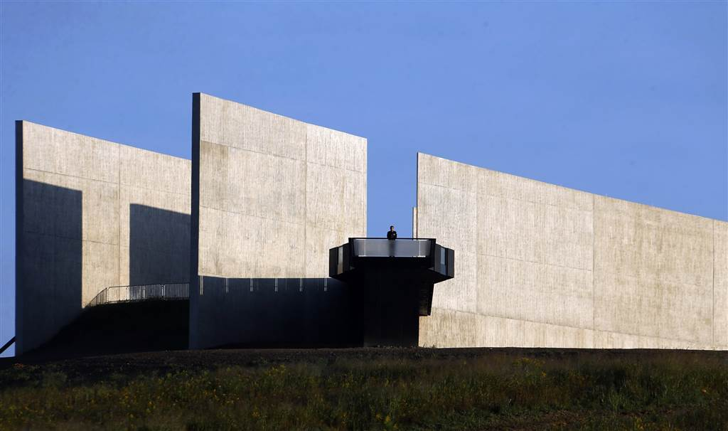A visitor pauses on the observation deck of the Flight 93 National Memorial Visitors Center in Shanksville, Pa, on Sept. 11. Flight 93 was the only jetliner among the four commandeered by terrorists that failed to reach its intended target on Sept. 11, 2001. (Photo: Associated Press)