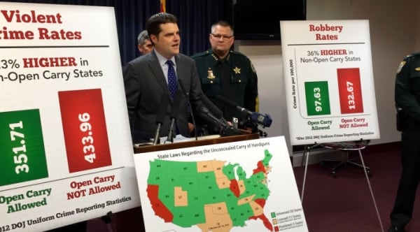 Florida open carry measure jumps first hurdle (VIDEO)