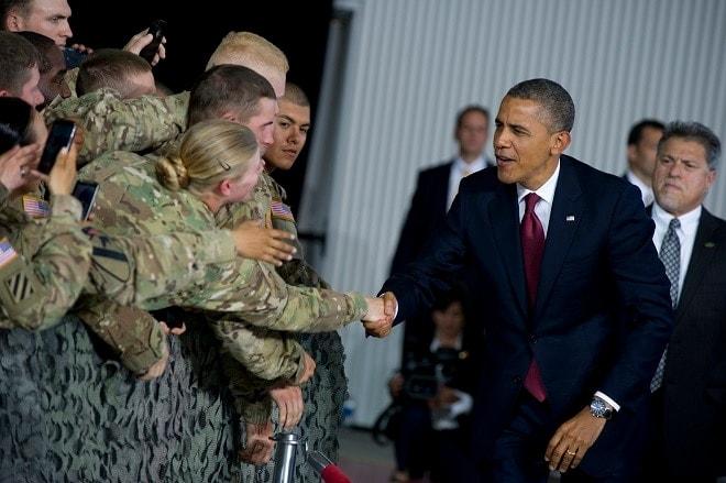 President Obama visits troops