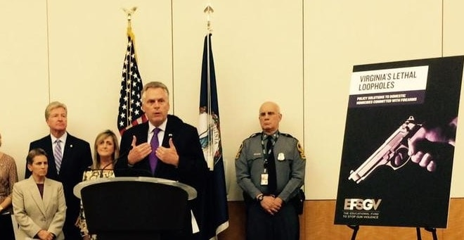 Virgina Gov. McAuliffe calls for more gun control in domestic violence cases twitter