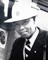 A Navy veteran, Chow was reportedly the first Asian-American Olympic team member.