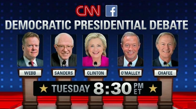 CNN hosts the first Democratic presidential debates. (Image: CNN)