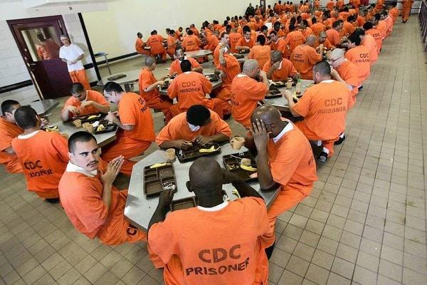 Federal prison inmates not enjoying a pork loin.