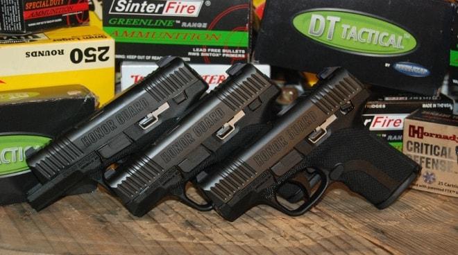 honor guard pistols first three models
