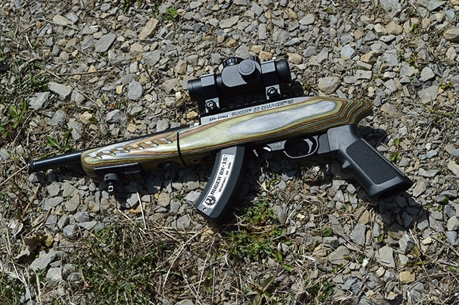 ruger charger on gravel ground