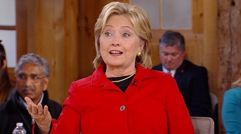 Hillary Clinton Speaks On Gun Control Reform In New Hampshire on Monday. (Photo: NBC)