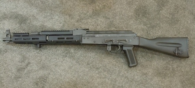 Troy is also expanding their rail line with a ton of fresh offerings including AK Keymod and M-LOK rails, seen here on a well-used WASR