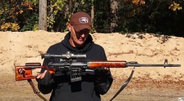 Clocking in with a real SVD Dragunov rifle (VIDEO)