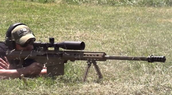 Giving the Barrett M107A1 a .50 caliber work out (VIDEO)