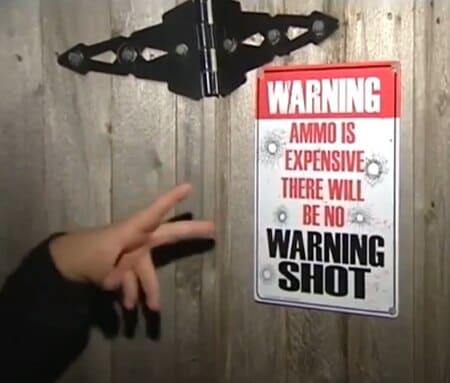 no warning shot sign