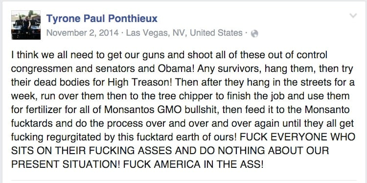 A screenshot of the rant in its entirety. (Photo: Facebook)