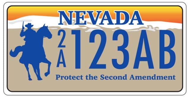 Nevada pro gun license plates