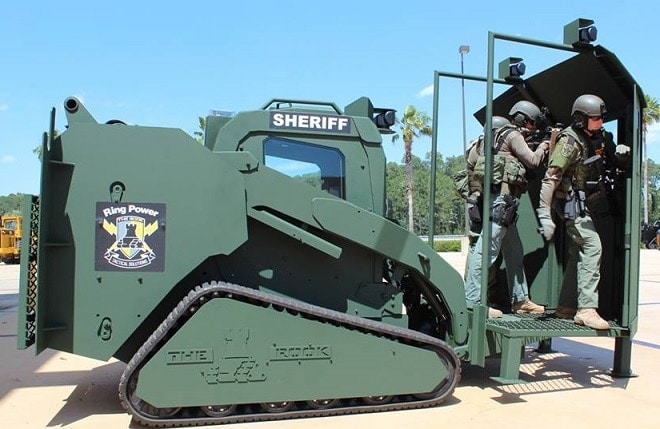 Meet the armored Caterpillar tractor that helped stop the San Bernadino shooters