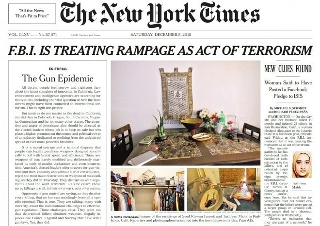 New York Times advocates gun confiscation in op-ed