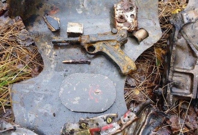 This battlefield recovered Luger has seen better days (6)