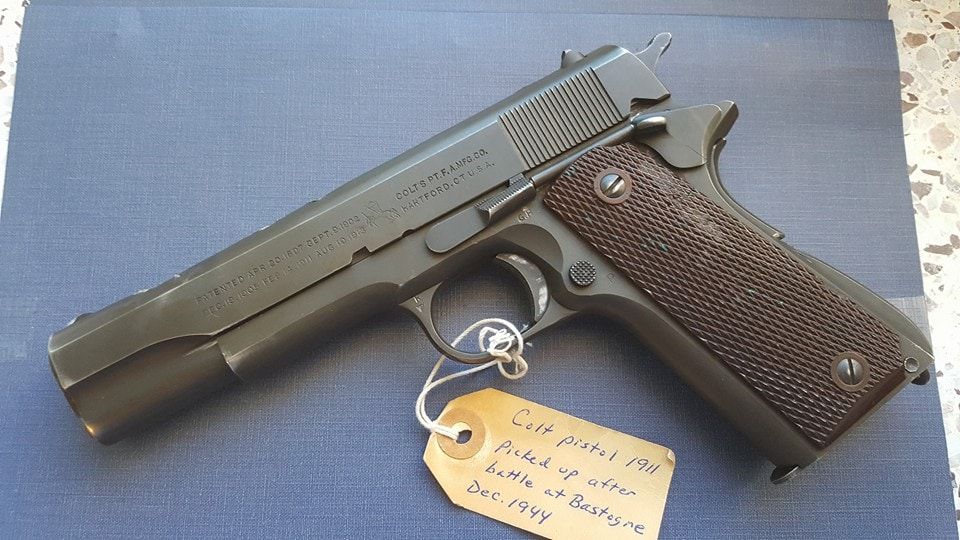 Although the handgun may look no worse for ware from some angles, the unfortunate soldier who carried it likely came out less lucky