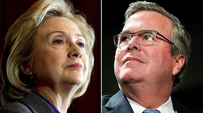 Hillary Clinton and Jeb Bush (Photos: Getty)