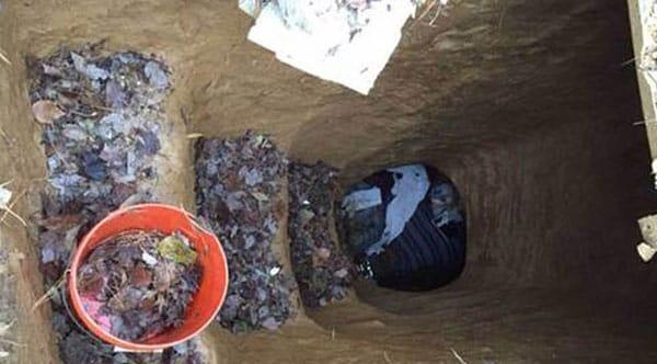 homeless man cave