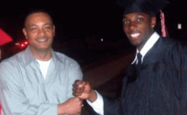 Bobby Daniels, left, and his son Bias Daniels. Their family said Bobby, a security guard at CNN, rushed home from work to help de-escalate the situation.