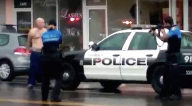 bank robber shot dead