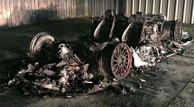 torched Lamborghini