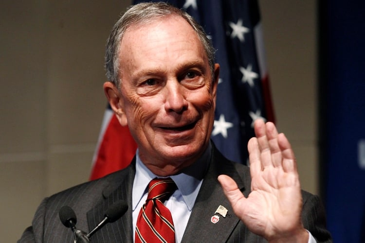 New York City Mayor Bloomberg speaks at a U.S. Chamber of Commerce forum in Washington