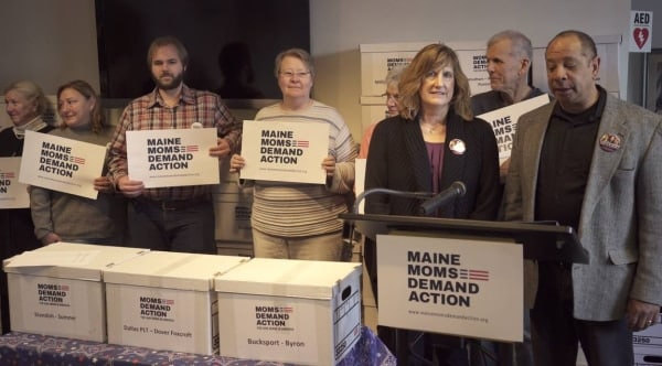 Bloomberg group delivers signatures for Maine background check referendum
