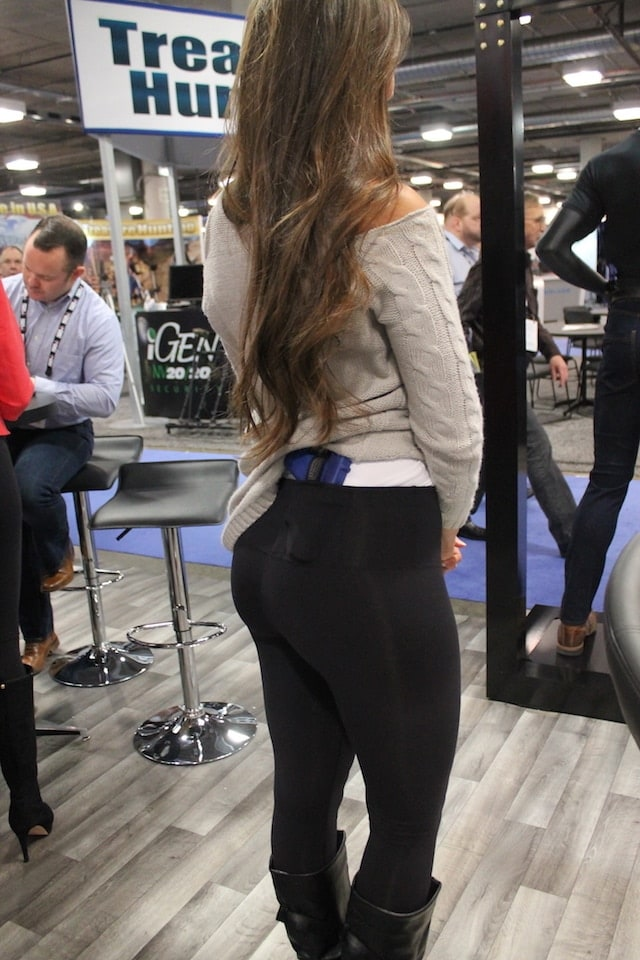 UnderTech UnderCover showcases their new Original Concealment Leggings at SHOT Show 2016. (Photo: Jacki Billings)
