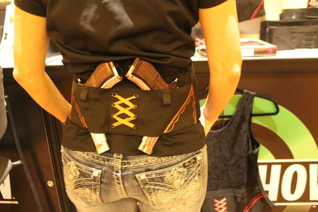 Can Can Concealment's Hip Hugger holster has slots for up to four firearms. (Photo: Jacki Billings)