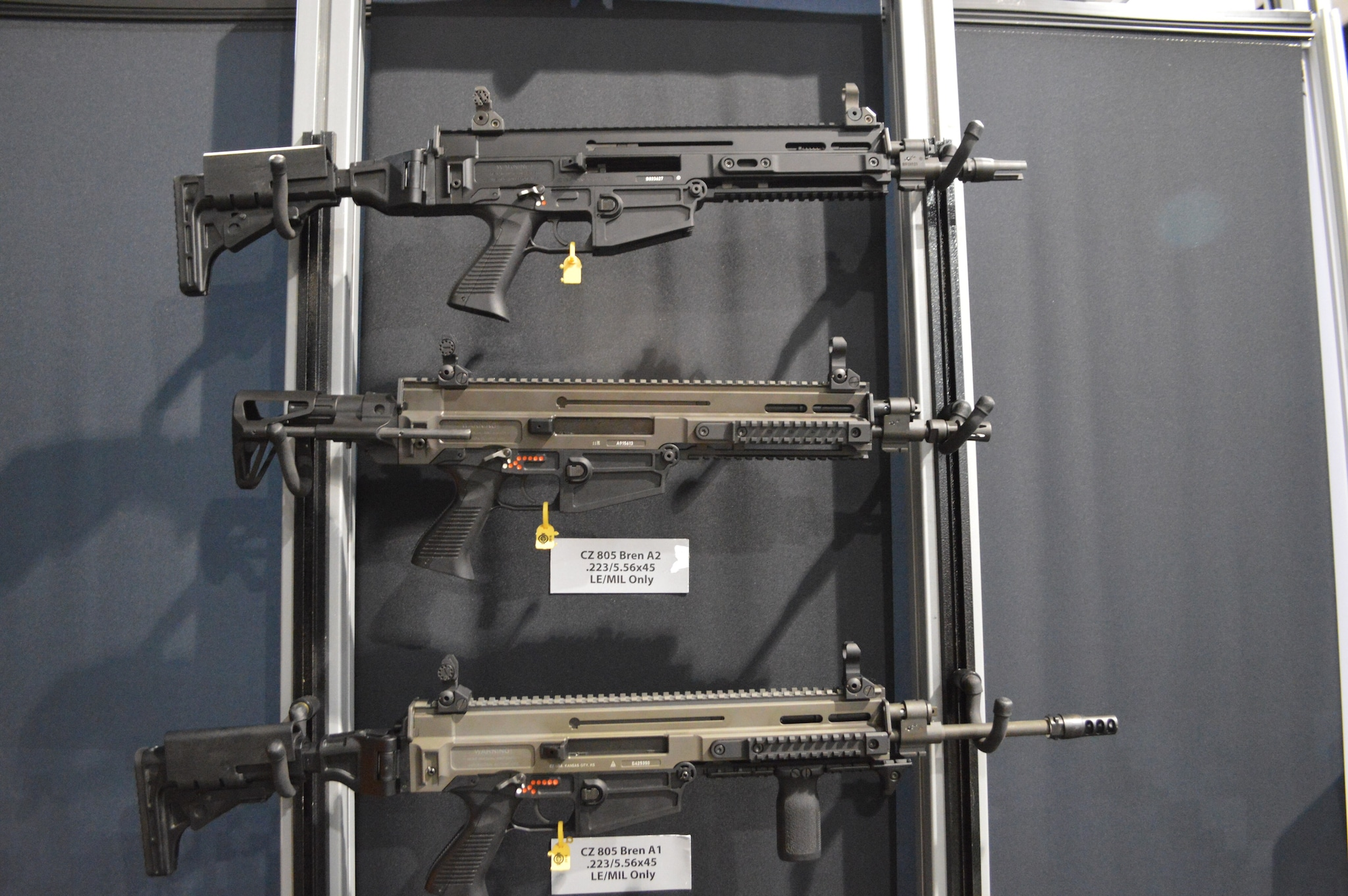 The latest from CZ in their line of Law Enforcement / Military only Bren A1 and A2. (Photo: Bill Stewart)