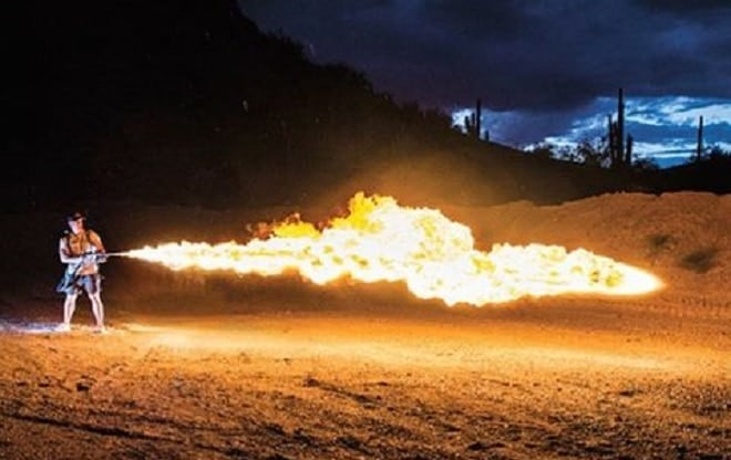 Meet the 'Flamethrowers Really Act.'