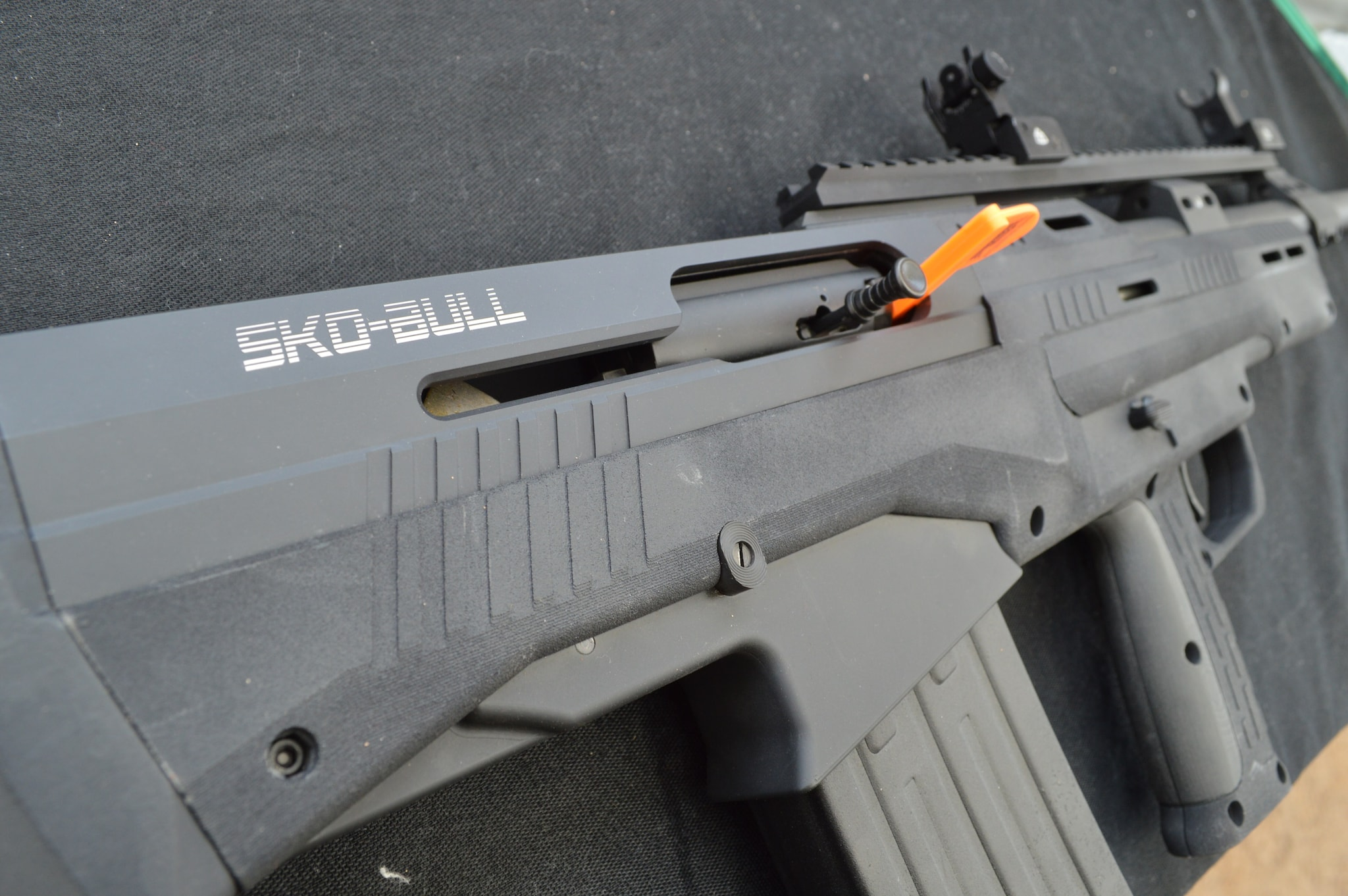 Standard Manufacturing's new-for-2016 SKO-BULL, a semi-auto bullpup with similarities to the DP-12. (Photo: Kristin Alberts)