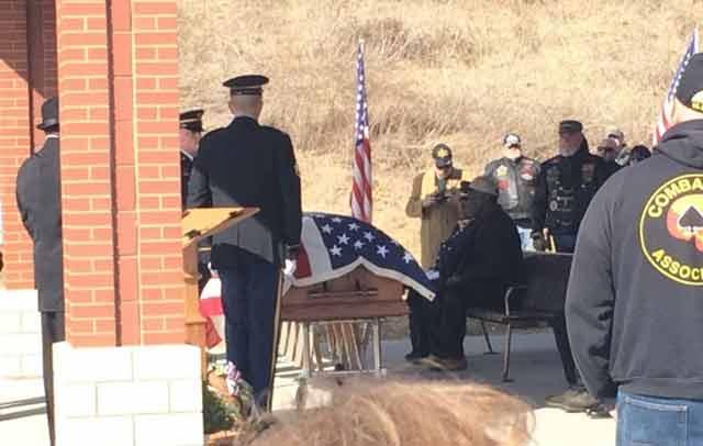 homeless veteran's funeral