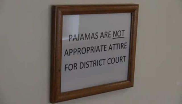 pajama free zone