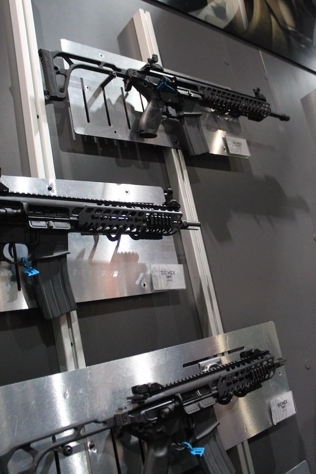 Sig Sauer's MCX Rifle modular design won it many looks from spectators at the Great American Outdoor Show in Pennsylvania. (Photo: Jacki Billings)