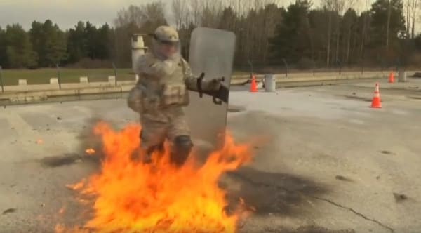 Join the Army they said. Dance in a lake of fire they said (VIDEO)