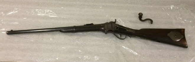 The 'coffee grinder' Sharps Carbine with a mill right in the stock (2)