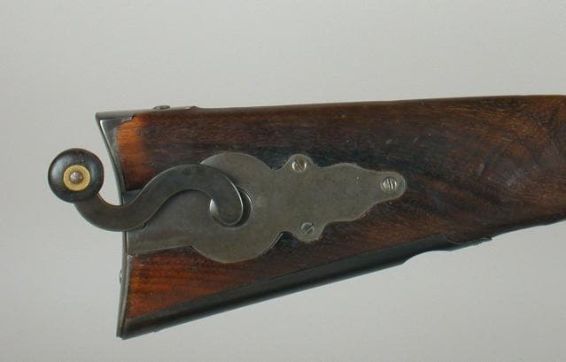 The 'coffee grinder' Sharps Carbine with a mill right in the stock (8)