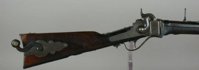 The 'coffee grinder' Sharps Carbine with a mill right in the stock (9)